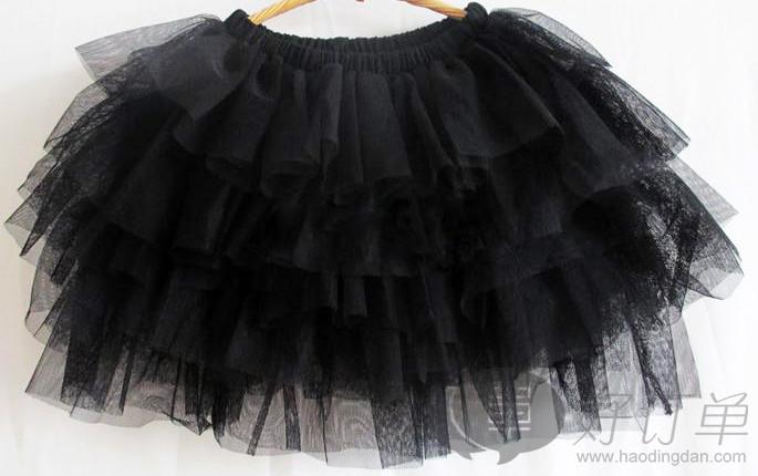 天色网_六色短裙 2014夏季新品 甜美六色网沙超短裙童裙 童装厂家直销