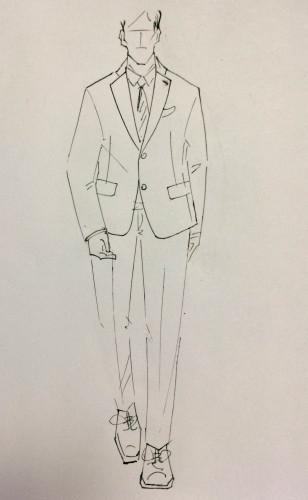 高端商务男装,西装外套等梭织男装款式设计图片