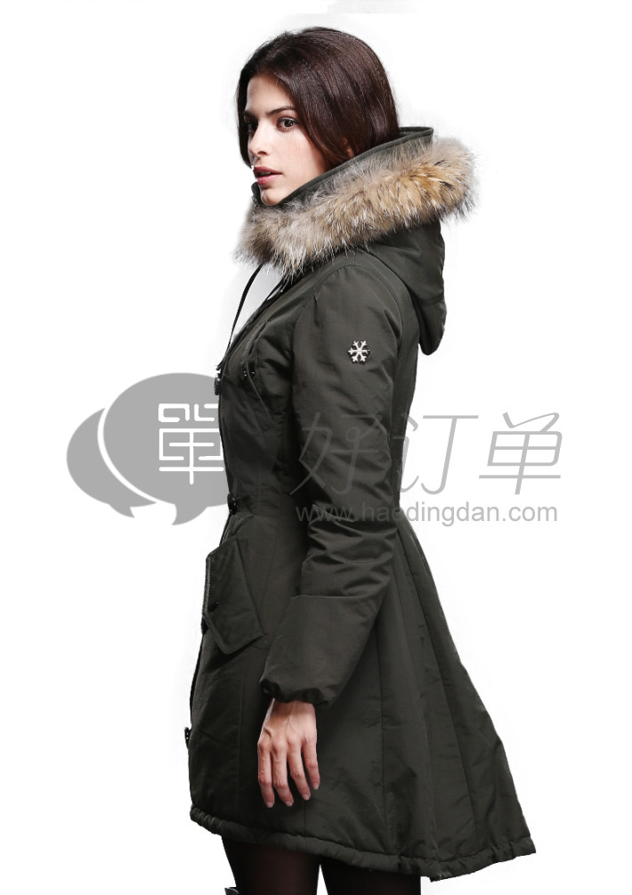 karabearni2015秋冬装个性下摆棉外套