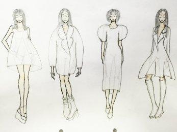 各类女装设计,可提供手绘或电脑设计图,效果图款式图均可.图片